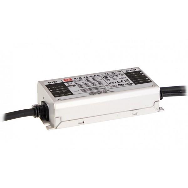 XLG-75-H-A Mean Well Блок питания (LED драйвер) 75 Вт; 27~56 В; 1.3~2.1 А