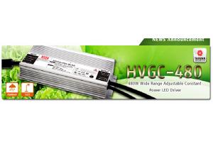 HVGC-480 : Новая серия драйверов светодиодов MEAN WELL мощностью 480Вт
