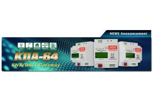 Компания Mean Well выпустила конвертор KDA-64 для протоколов KNX/DALI