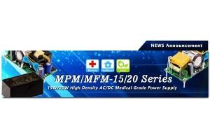 Новые серии импульсных блоков питания Mean Well серии MPM/MFM-15/20