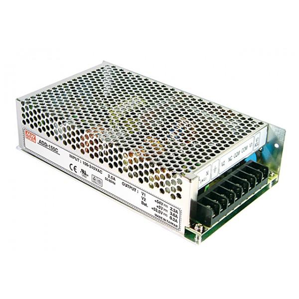 ADD-155A Mean Well Блок питания 152.75 Вт, 13.8 В/10.5 А, 5 В/3 А, 13.3 В/ 0.5 А С функцией UPS