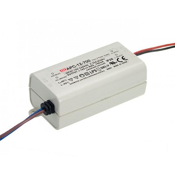 APC-12-700 Mean Well Блок питания 12.6 Вт, 9~18 В, 700 мА Драйвер для светодиодов (LED)