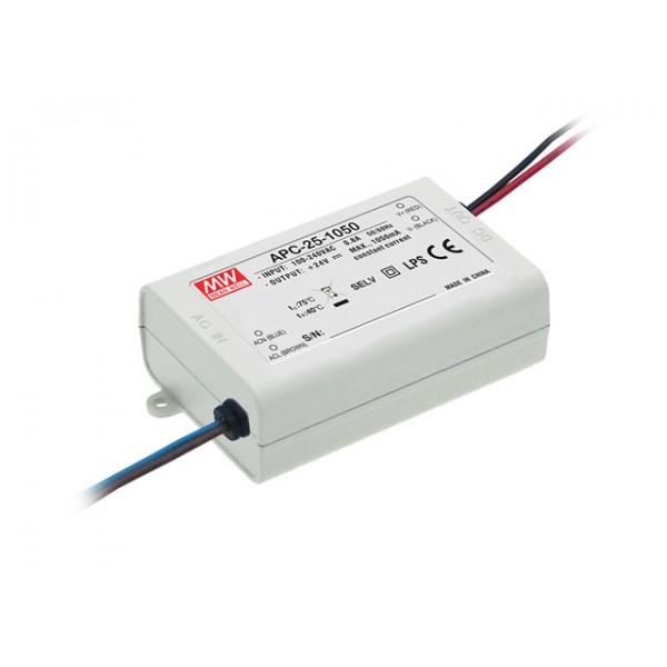 APC-25-500 Mean Well Блок питания 25.2 Вт, 15~50 В, 500 мА Драйвер для светодиодов (LED)
