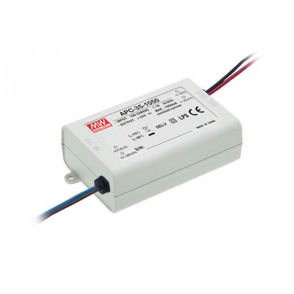 APC-35-500 Mean Well Блок питания 35 Вт, 25~70 В, 500 мА Драйвер для светодиодов (LED)
