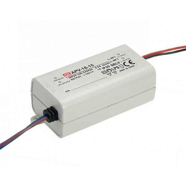 APV-16-12 Mean Well Блок питания 15 Вт, 12 В, 1.25 А Драйвер для светодиодов (LED)