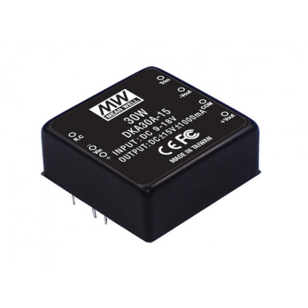 DKA30B-15 Mean Well Блок питания 30 Вт, 15 В, 0,1 А На плату