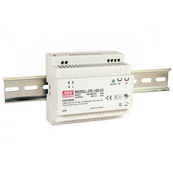 DR-100-15 Mean Well Блок питания 97.5 Вт, 15 В, 6.5 А На DIN-рейку