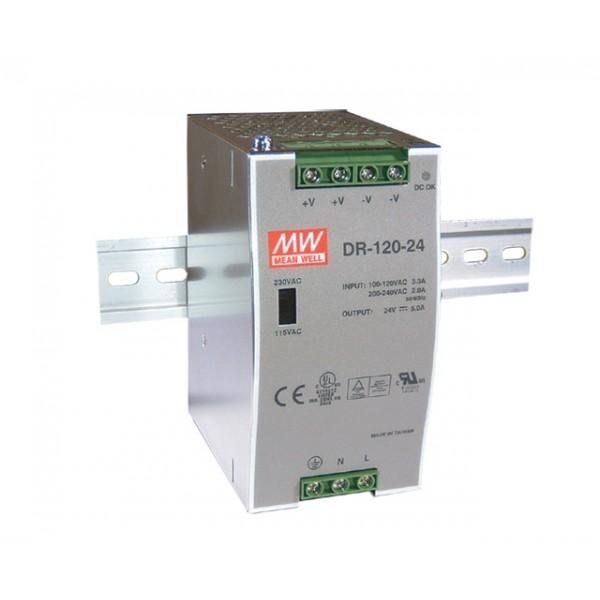 DR-120-48 Mean Well Блок питания 120 Вт, 48 В, 2.5 А На DIN-рейку
