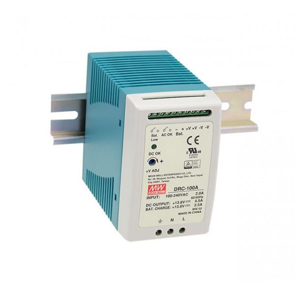 DRC-100B Mean Well Блок питания Mean Well Блок питания 96.6 Вт, 27.6 В/2.25 А, 27.6 В/ 1.25 А С функцией UPS