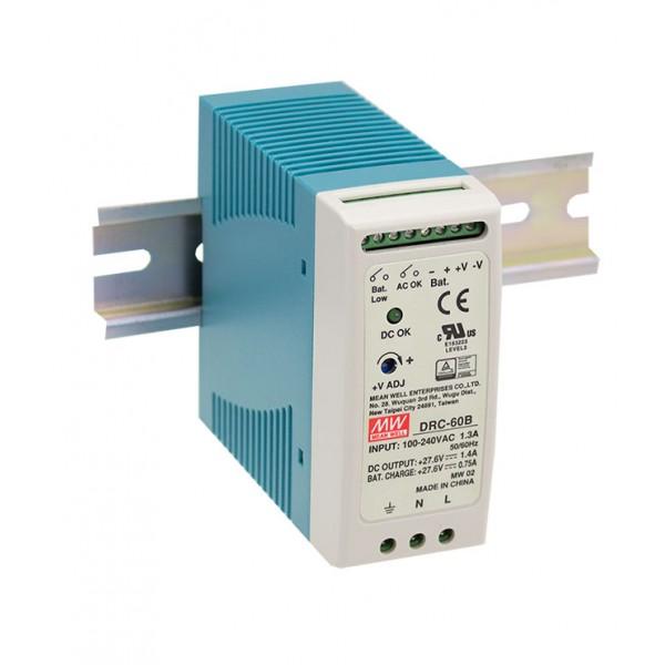 DRC-60B Mean Well Блок питания Mean Well Блок питания 59.34 Вт, 27.6 В/1.4 А, 27.6 В/ 0.75 А С функцией UPS