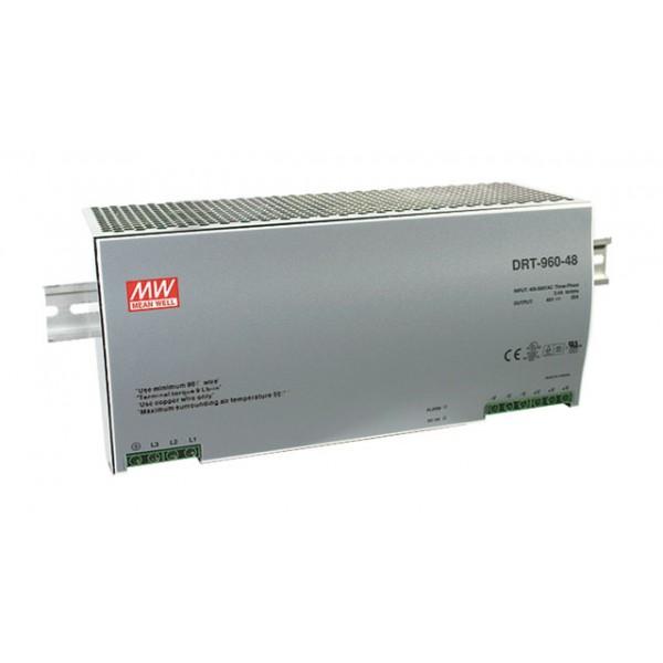 DRT-960-48 Mean Well Блок питания 960 Вт, 48 В, 20 А На DIN-рейку
