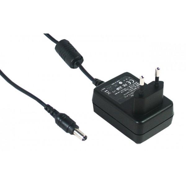 GS12E12-P1I Mean Well Адаптер питания 12 Вт, 12 В, 1 А разъем 2.1х5.5 мм