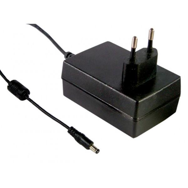 GS25E48-P1J Mean Well Адаптер питания 25 Вт, 48 В, 0,52 А разъем 2.1х5.5 мм