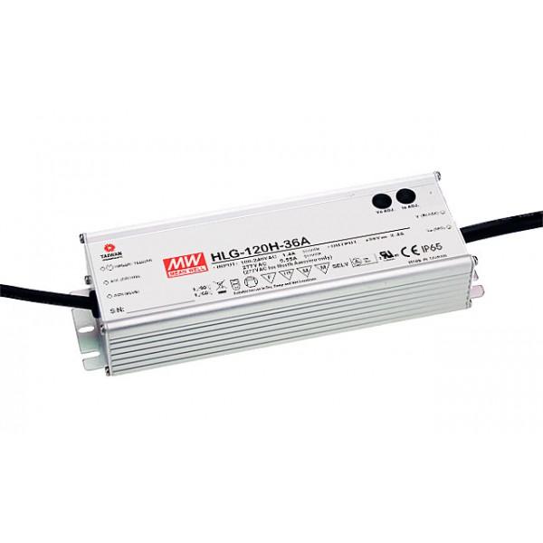 HLG-120H-C1050A Mean Well Блок питания 155.4 Вт, 74~148 В, 1.05 А Драйвер для светодиодов (LED)