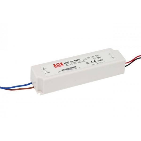 LPC-60-1400 Mean Well Блок питания 58.8 Вт, 9~42 В, 1400 мА Драйвер для светодиодов (LED)