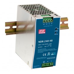 NDR-240-24 Mean Well Блок питания 240 Вт, 24 В, 10 А На DIN-рейку