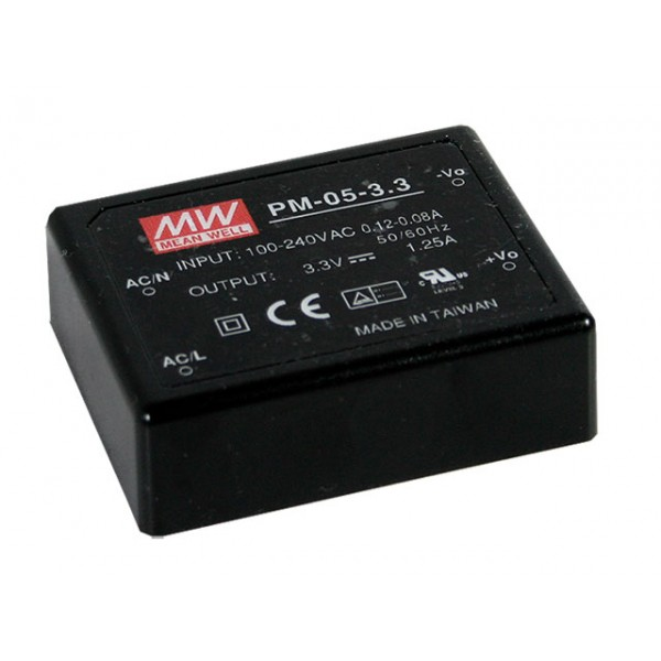 PM-05-15 Mean Well Блок питания 4.95 Вт, 15 В, 0.33 А На плату