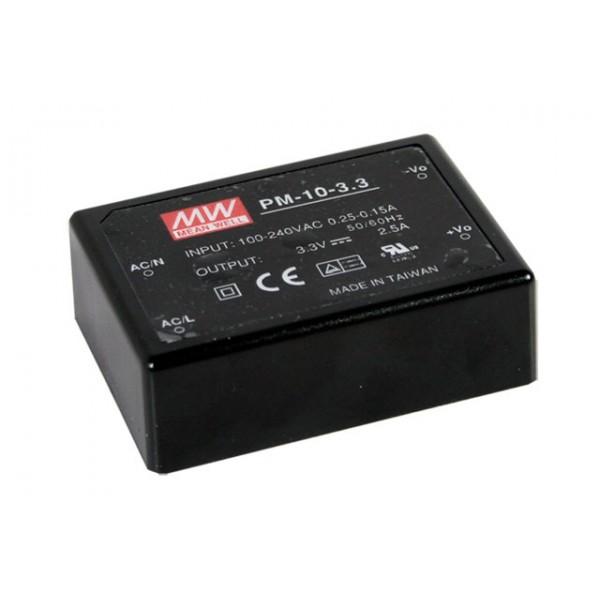 PM-10-15 Mean Well Блок питания 10.05 Вт, 15 В, 0.67 А На плату