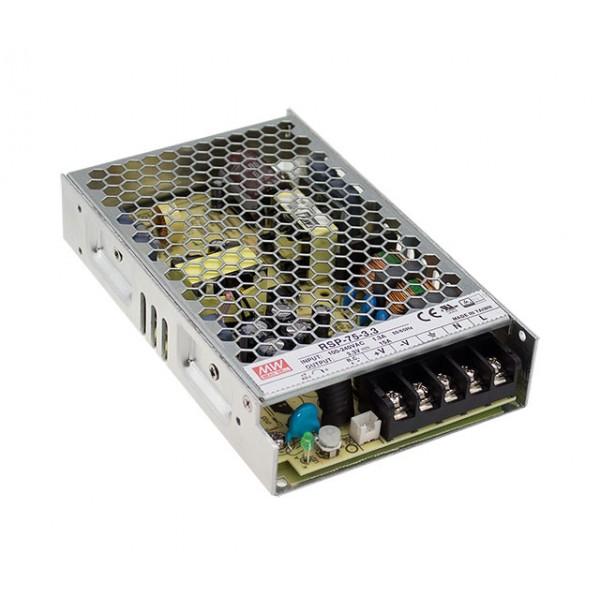 RSP-75-3.3 Mean Well Блок питания 49.5 Вт, 3.3 В, 15 А В корпусе с ККМ
