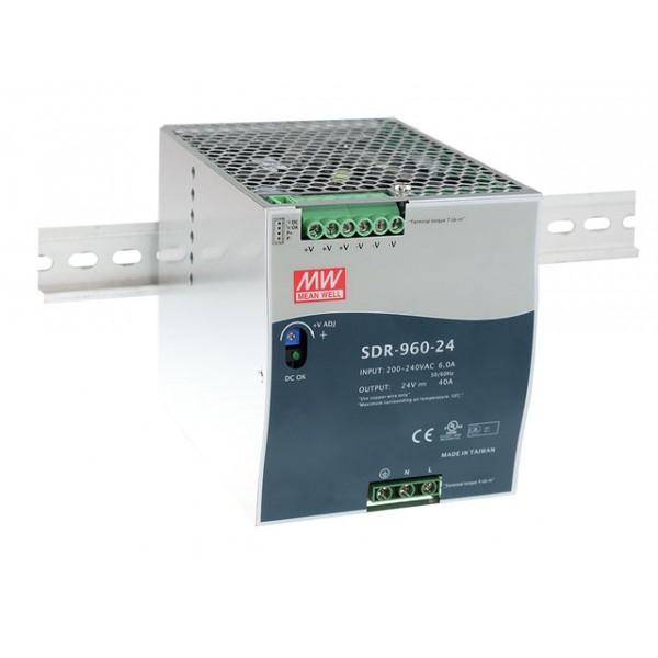 SDR-960-24 Mean Well Блок питания 960 Вт, 24 В, 40 А На DIN-рейку